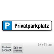 Parkplatzschild Symbol: P, Text: Privatparkplatz