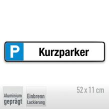 Parkplatzschild Symbol: P, Text: Kurzparker