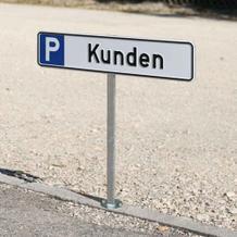 Aufstellpfosten für Parkplatzschilder 52,0 x 11,0 cm
