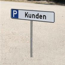 Einschlagpfosten, Erdspieß für Parkplatzschilder 52,0 x 11,0 cm