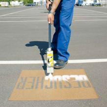 Spritzschablonensatz zur Boden- und Straßenmarkierung