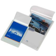 Selbstklebe-Dehnfaltentaschen - DIN A4 - Verschlussklappe rund