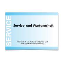 Service- und Wartungsheft DIN A5 quer