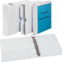 PVC-Präsentations-Ringbuch + Schuber -  Innentasche - 4-Ring Mechanik