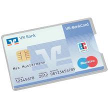 Schutzhülle - für Kredit- und Scheckkarten - Hartfolie - Schutz vor Datenmissbrauch