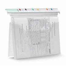 Organisationstasche - VISIMAP - mit 2 Bogenschnitt-Taschen beidseitig - Heftzunge