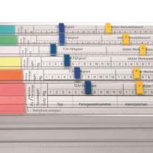 Signal-Aufstecker für Organisationsleiste - VISIMAP / Personalhefter - Farbig