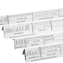 Planungsstreifen - VISIMAP / Personalhefter - Personalplanung