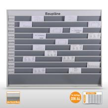 """Planungstafel groß (50 x DIN A4) mit Beschriftung """"Baupläne"""""""