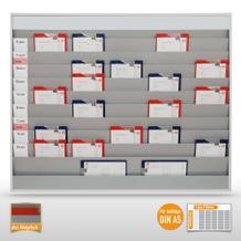 Werkstattplaner groß (für bis zu 50 x DIN A5) mit Beschriftungsmöglichkeit