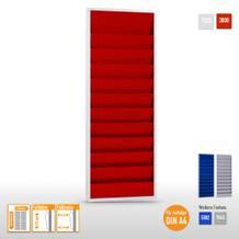 """Plantafel """"Color"""" aus Stahlblech für bis zu 20 x DIN A4 Aufträge"""