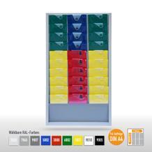 """Plantafel """"Color"""" aus Stahlblech für bis zu 30 X DIN A4 Aufträge"""