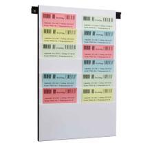 Flexiplan-Beleg-Planungstafel für Belege DIN A3 quer / DIN A4 hoch - 500 x 795 mm