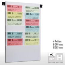 Flexiplan-Beleg-Planungstafeln für Belege DIN A4 hoch