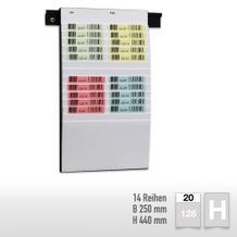 Flexiplan-Beleg-Planungstafeln für Belege DIN A6 hoch