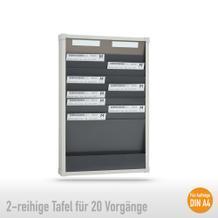 Sortiertafel 2-reihig für (20 x DIN A4 Belege), Höhe 750 mm