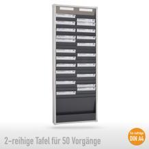 Sortiertafel 2-reihig für (50 x DIN A4 Belege), Höhe 1350 mm