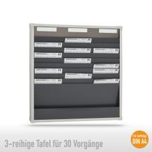 Sortiertafel 3-reihig für (30 x DIN A4 Belege), Höhe 750 mm