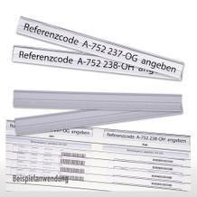 Selbstklebe-Klarsichtleisten für Flexiplan-Beleg-Planungstafeln, 220 x 23 mm