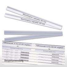 Selbstklebe-Klarsichtleisten für Flexiplan-Beleg-Planungstafeln, 220 m x 15 mm