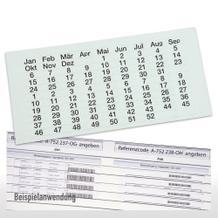 Etiketten - Transparent - für Flexiplan-Beleg-Planungstafeln