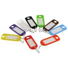 Schlüsselanhänger-Set mit Chromhaken farblich gemischt