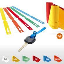 PVC-Schlaufenetiketten auf Rolle - Format 140 x 13 mm (VE 1000)