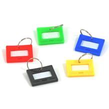 Schlüsselanhänger mit Ring - 5 Farben - für Schlüssel-Kästen (VE=100 Stück)