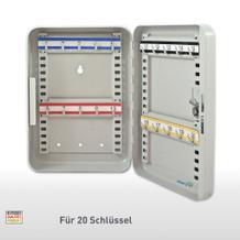 Schlüsselkassette mit Zylinderschloß - 20 Haken