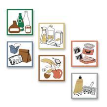 Aufkleber-Set für Wertstoff-Sortierbehälter und -Sammler