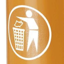 """Aufkleber """"Saubermännchen"""" für Abfallbehälter und -Sammler"""