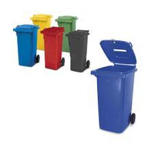 Müllbehälter und Sammler nach EN 840 - 120 Liter auch mit Papier-Einwurf