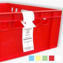 HDPE-Schlaufenetiketten für Lebensmittel, 150 mµ - 5 Farben - 26 cm - ISEGA-Zertifikat
