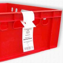 HDPE-Schlaufenetiketten für Lebensmittel, 110 mµ - 26 cm - ISEGA-Zertifikat