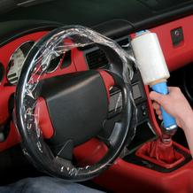 Abrollset Lenkradschutzfolie für PKW und LKW (4+1)
