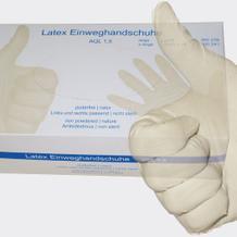 Latex-Handschuhe ungepudert