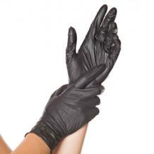 Nitril-Einweghandschuh - ungepudert - L 24 cm - Schwarz