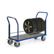 Reifenwagen mit 1 Ebene - TPE-bereift - Rad-Durchmesser 200 mm