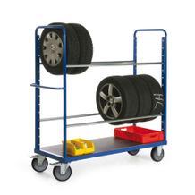 Reifenwagen mit 2 Ebenen - TPE bereift - Traglast je Ebene 200 kg