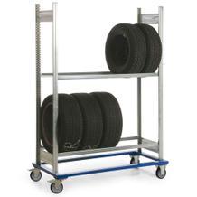 Fahrgestell mit Reifenregal