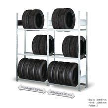 Räderregal - Komplettangebot - 2 Felder mit je 3 Lagerebenen