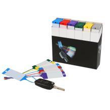 Warenanhänger-Set mit neutralem Beschriftungsfeld in Spenderbox