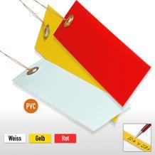 PVC-Hänge-Etiketten mit Draht, Format 120 x 65 mm (VE = 100)