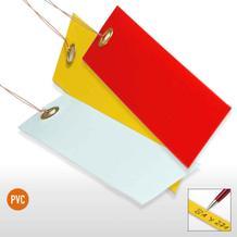 PVC-Hänge-Etiketten mit Draht - Format 120 x 65 mm (VE = 100)