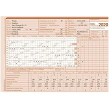 AUK-Gleitzeitabrechnungskarte