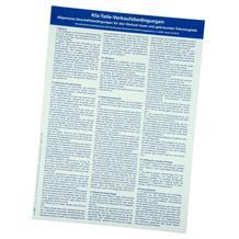Hinweistafel KFZ-Teileverkaufsbedingungen, Format DIN A 2