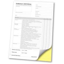 Prüfbefund / UVV-Prüfung DGUV Vorschrift 70 - DIN A4