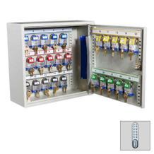 Schlüsselschrank mit Elektronikschloss und 25, 50 oder 100 langen Haken