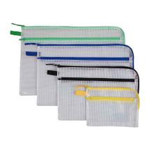 Kleinkrambeutel mit Doppeltasche - RV Halb-L und in Farbe - 5 Größen