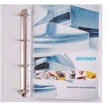 PVC-Dehnfaltentasche - DIN A4 - Volldeckend - Abheftrand